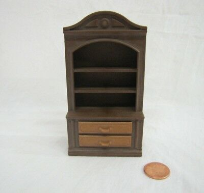 Vintage PLAYMOBIL BROWN DINING ROOM HUTCH BOOKCASE Victorian Mansion #5300