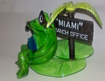 Vintage 1979 Enesco Frog Figurine Boss in Conference Miami Branch Office