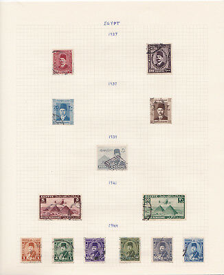 Egypt / UAR stamp collection