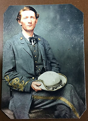 "civil war John ""Grey Ghost""Mosby Colonel Of The Confederacy tintype C036RP"