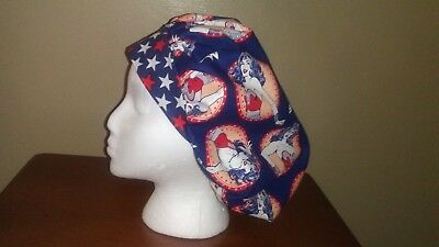 Wonder Woman Patch Women's Bouffant Surgical Scrub Hat/Cap Handmade