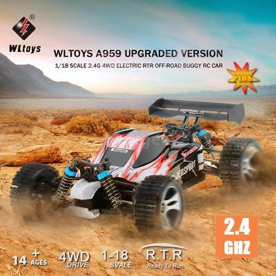 Wltoys RC Car A959 1/18 Scale 2.4G RC 4WD Electric RTR Off-Road Buggy V0R3