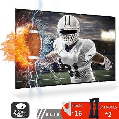 120 inch 4k Indoor Outdoor Proj. Screen HD Anti-Crease Portable Double Sided