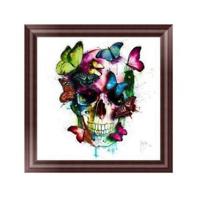 DIY 5D Diamond Painting Butterfly Skull j453 Cross Stitch Embroidery Craft Decor