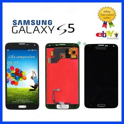 DISPLAY LCD PER SAMSUNG GALAXY S5 G900F TOUCH SCREEN+STRUMENTO NERO black