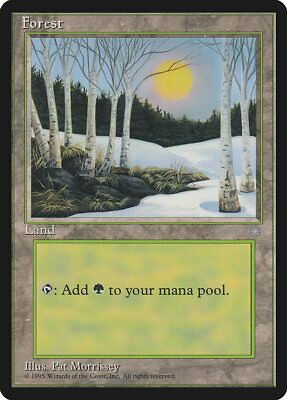 Snow-Covered Forest SP Ice Age MTG Magic The Gathering Land English Card