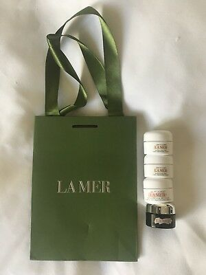 La Mer Travel Containers Empty Containers Lot of 5 + Bag