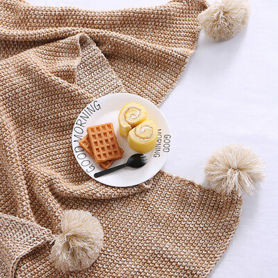 AU Fashion Cotton Knitted Blanket Super Soft Throw Rug Sleeping Rug Sofa Decor