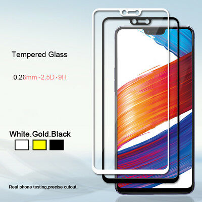 2xGenuine Tempered Glass Full Screen Protector Film Guard Protector for OPPO R15
