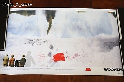 """Rare RADIOHEAD KID A ARTWORK """"SNOWSCAPE"""" POSTER Stanley Donwood W.A.S.T.E."""