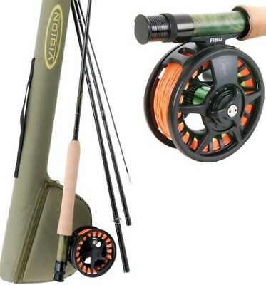 Vision FlyFishing FISU 6/7 OUTFIT fly rod, fly reel, rod tube, flyline, backing