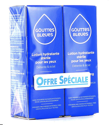 2 pk INNOXA French Blue Eye Drops Gouttes Bleues 10ml  Exp: 2020 Made in France