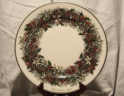 1981 Lenox Colonial Christmas Wreath Virginia the First Colony Plate