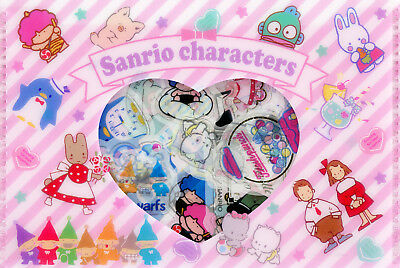 Sanrio 80s Characters Stickers in Plastic Wallet (Tuxedo Sam and Others)