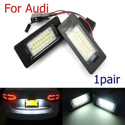 2x 24LED Number/License Plate Lights Lamp For Audi A1/A4/A5/A6/A7/Q5/TTRS/RS5/PA