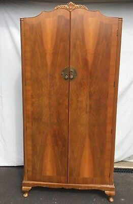Vintage Antique Gentleman's Tallboy Wardrobe Shelving