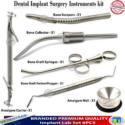 Implant Surgery Grafting Syringes Carriers Packer Collectors Bone Scraper+Well