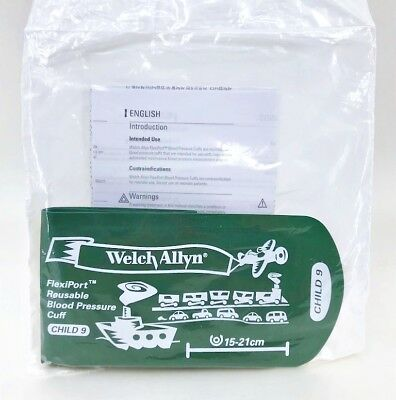 Welch Allyn FlexiPort Reusable Blood Pressure BP Cuff Child 9 (15-21cm)