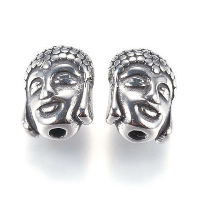 10pcs Antiqued 304 Stainless Steel Buddha Beads Decorative Loose Spacer 11.5mm