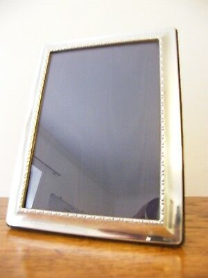 "HALLMARKED SHEFFIELD 1994 SOLID SILVER PHOTO PICTURE FRAME 8.25"" x 6.25"" INCHES"