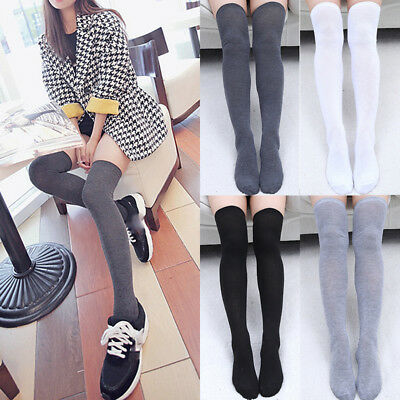 Sexy Ladies Women Girls Thigh High OVER the KNEE Socks Long Cotton Stockings