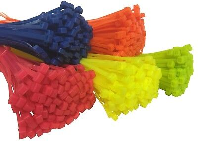 Fluorescent Cable Ties Nylon Zip Tie Neon Cable Tie Wraps All Sizes & Colours
