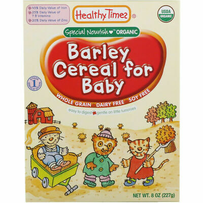 Healthy Times Organic Cereal for Baby Barley 8 oz (227 g)