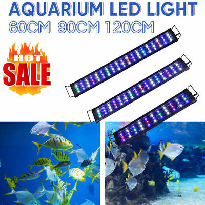 60/90/120CM Aquarium LED Light Lighting Full Spectrum Aqua Plant Fish Tank Lamp
