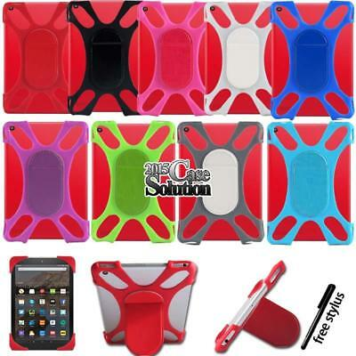 """Shockproof Silicone Stand Cover Case For 7"""" 8"""" Amazon Kindle Fire Tablet"""