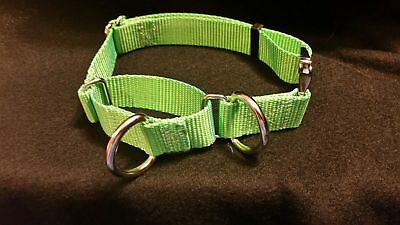 Martingale Dog Collar W/ 2 D Rings Training Style USA Made Tough (METAL BUCKLES)