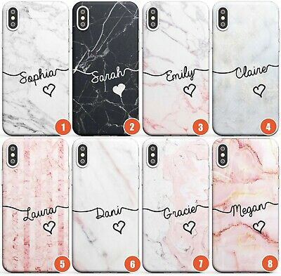 Personalised Custom Name Marble  Slim Phone Case for iPhone | Luxury Initials He