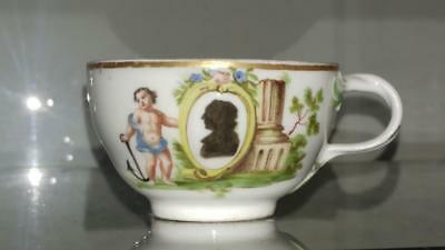 18th C  Meissen Marcoloni Horoldt Style Exquisitely Hand Painted Cup