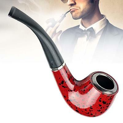 New Wooden Enchase Smoking Durable Pipe Tobacco Cigarettes Cigar Pipes Gift GU