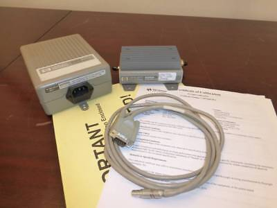 Agilent Keysight 83050A 2GHz - 50GHz Microwave System Amplifier w/ Power Supply