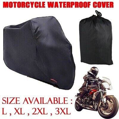 Motorcycle Cover Outdoor 210D Oxford Waterproof Protection with Carrying Bag