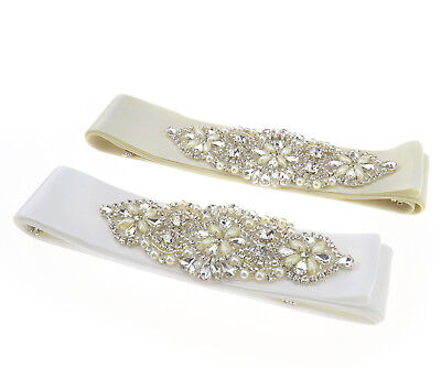 Women Bridal Dress Belt Crystal Rhinestone Wedding Dress Sash Party Ribbon