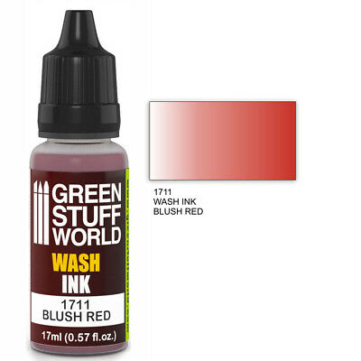 Tinta Wash - BLUSH RED - Rojo Aerografo y Pincel Acrilica Lavado Ink