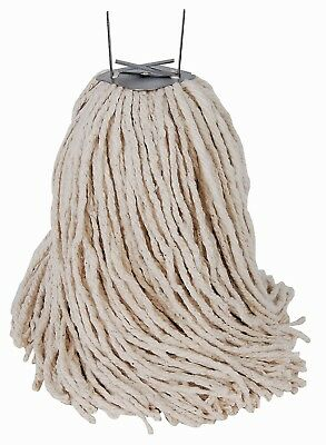 TOP QUALITY MOP HEADS - 10 PACK - Metal clip fits wooden handles (08-MP-14-C-1)
