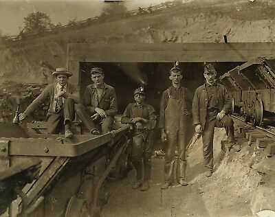 "Mining photograph, Young miners, antique Miner decor, Coal, Nice, 20""x16"""