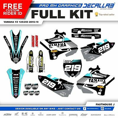 YAMAHA YZ125/250 2015 2018 2019 MX Graphics Decals Stickers Durable Decallab