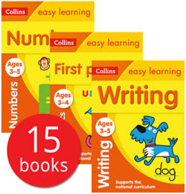 Collins Easy Learning Age 3-5 Collection - 15 Books
