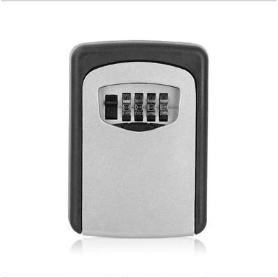 NEW Wall Mounted 4Digit Password Key Outdoor Safe Box Secure Lock Combination UK