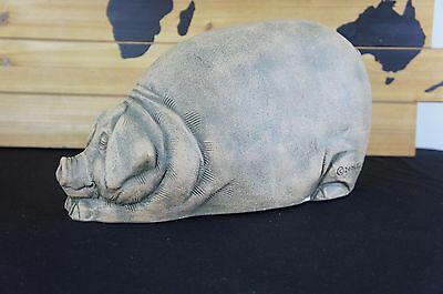 2006 Telle M Stein - The Stone Bunny Inc. Pig Decor Statue Figurine
