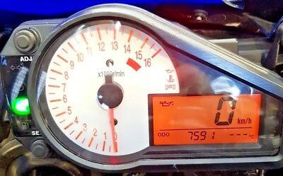 Suzuki GSXR600 ('01 bike, 7591 miles) Instrument Cluster Clocks
