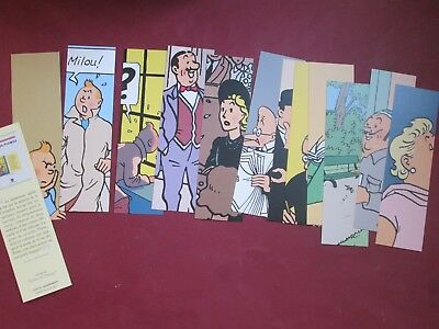 HERGE TINTIN LOT 12 marque pages DROLE DE PLUMES  NEUFS