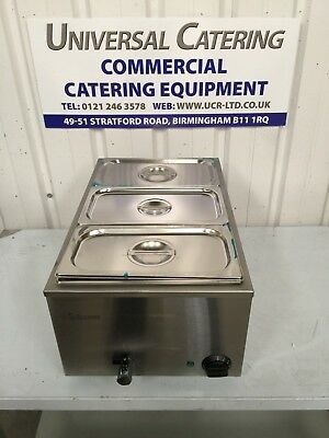 Infernus Bain Marie 3 X 1/3 Pots And Lids Included