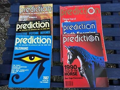 6 Assorted Prediction Magazine Wicca Astrology Tarot Healing Magic Occult Dreams