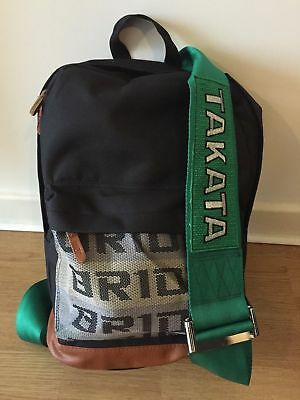 New Jdm Bride Takata Style Green Backpack Bag Straps Racing Harness School