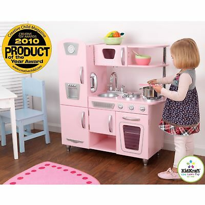 KITCHEN PLAY SET For Girls Pretend Play Wooden Cooking Toy ...