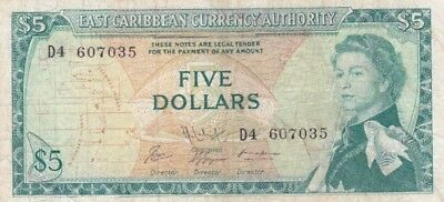 Good Ostkaribisch 1 Dollar Nd east Caribbean Currency Authority P-13e 1965